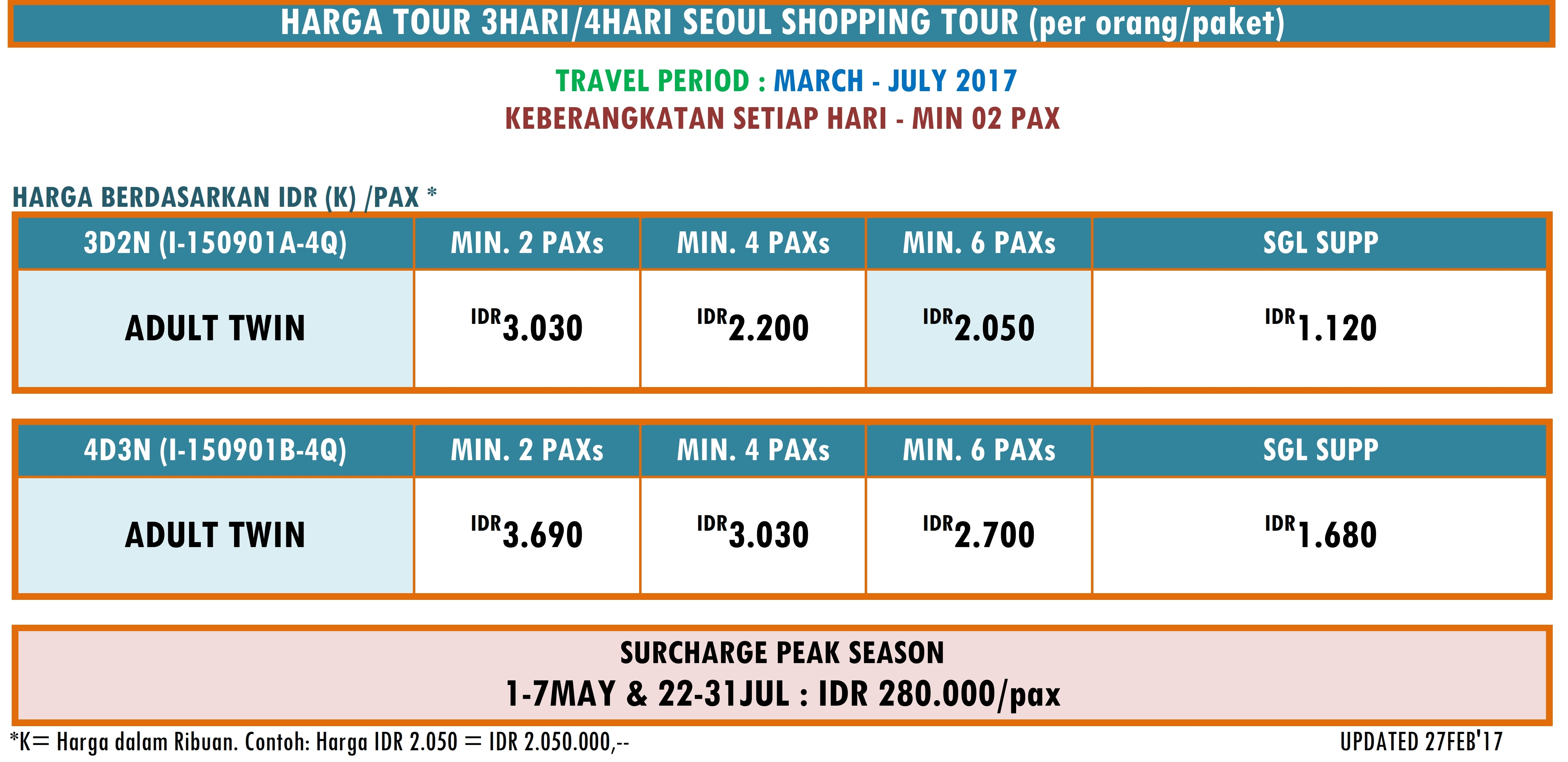 WH01 - LAND ONLY 3OR4D 2 IN 1 SEOUL SHOPPING TOUR PERIOD MAR - JUL 2017_002